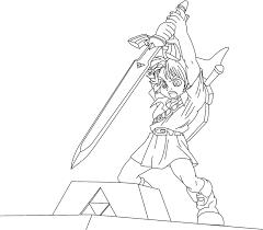 Free Printable Zelda Coloring Pages For Kids Lineart Zelda