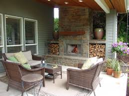 outdoor fireplace bull mountain traditional patio