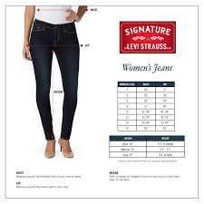 Levis Womens Size Chart Signature By Levi Strauss Co Signature By Levi Strauss