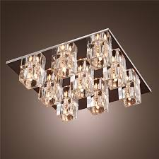 k9 crystal ceiling light with 9 lights in square modern ceiling light fixture flush mount crystal