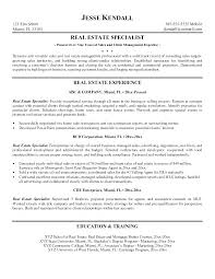 Commercial Appraiser Sample Resume Stunning Real Estate Sample Resume Kenicandlecomfortzone