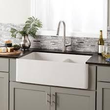 farmhouse double bowl concrete kitchen sink native trails