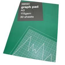 Graph Paper Pad A3 30 Sheets
