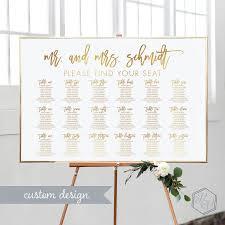 Gold Seating Chart Wedding Printable Wedding Seating Chart