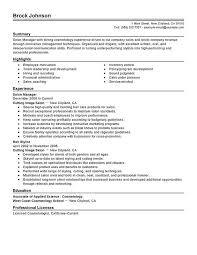Resume Templates Cosmetology Instructor Sales Resume