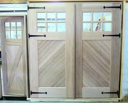 garage door with entry doorClingerman Doors  Custom Wood Garage Doors  Clearville PA