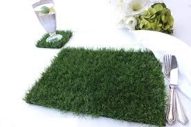 Moss Mats Artificial Grass Place Mat And Coaster Set At Evergreen