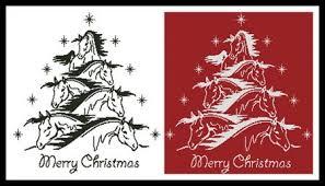 Horse Christmas Tree 2 Printed Cross Stitch Chart