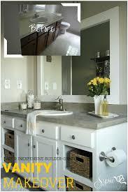 Old Builder Grade Bathroom Vanity Makeover Plus Tutorial