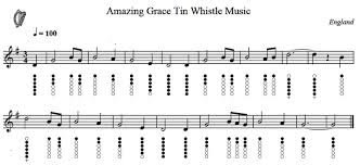 Bagpipe Finger Chart Amazing Grace Pin On Tin Whistle Music