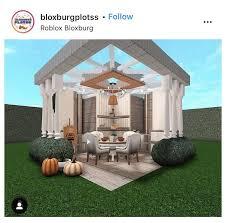 backyard bloxburg garden ideas aesthetic