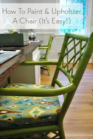 how to paint and upholster a chair