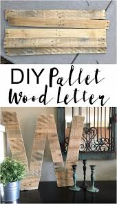 diy wall letters and word signs diy pallet wood letter initials wall art for