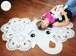 kids animal rug elephant animal rug nursery mat crochet pattern for babies kids and infants kids animal rug