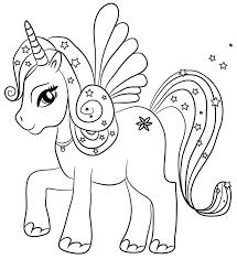 Unicorni Kawaii Da Colorare Con Disegni Di Unicorni Kawaii Da