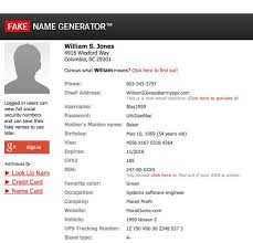 Name Generator Fake Cool Generator Life Website Websites Hacks