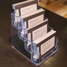 countertop business card holder view larger