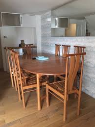ercol dining table eight chairs