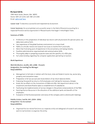 Cosy Sampleounting Internship Resume Objective In Example Of