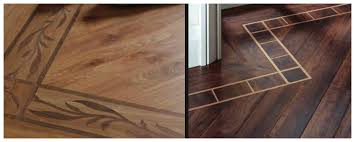 vinyl plank with decorative boarders
