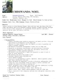 operations manager cv chimwanda 2015 operations manager cv