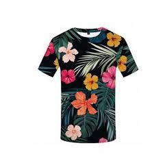 Shirt Design Flower 3d Printed Nature Floral Pattern Mens Unisex Short Sleeve Round Collar T Shirt Size Xl Multi Color