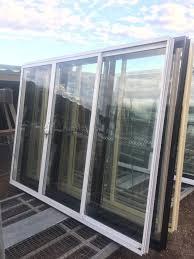 2100h x 2700w aluminium sliding doors