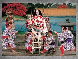 Театр кабукі презентація з культури Элементы кабуки Сцена в театре кабуки имеет своеобразное строение Её авансце