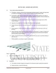 Trapeze Hanger Design Section 15060 Hangers And Supports