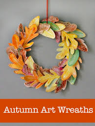 10 beautiful and easy homemade fall wreath crafts for kids :: diy autumn  wreath :