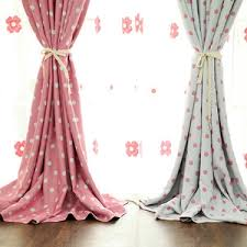 Pink polka dot curtains of Polyester for Room Darkening