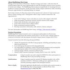 Summer Day Camp Counselor Resume Design Resume Template