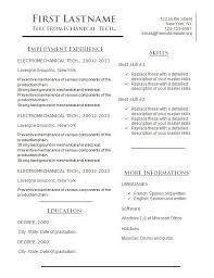 Very Simple Resume Simple Get A Free Cv