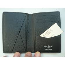 louis vuitton new louis vuitton pocket organizer wallet nemeth rope portecartes neuf wallets small accessories leather black white ref 60625 joli closet