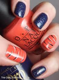 Nail Art: Tiger Stripes & Glitter | The Daily Varnish