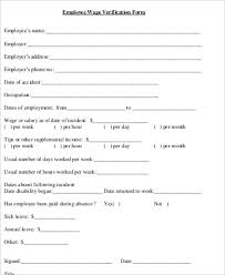 employment dates verification sample employee verification form 9 examples in word pdf