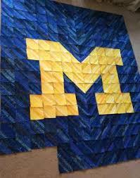 University of Michigan Quilt Kit ~ I really like this pattern. I ... & The University of Michigan Sheila Archey Adamdwight.com