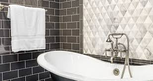 white tile accent with black subway tile