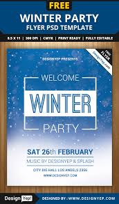 winter welcome party flyer psd template designyep winter welcome party flyer psd template
