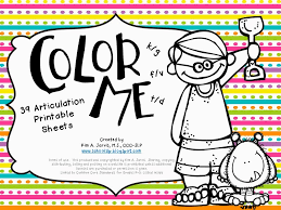 School SLP: COLOR ME Articulation: Speech Sound Coloring Sheets