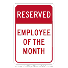 Emploee Of The Month Reserved Employee Of The Month