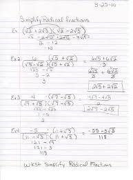 simplifying radical expressions practice worksheet skill