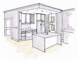 kitchen 1 point perspective. final kitchen rendering 1 point perspective p