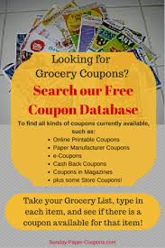 online coupon database grocery coupons