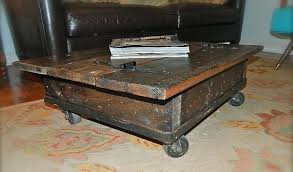coffee table on casters image of rustic coffee table with wheels locks coffee table on wheels