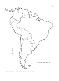 North And South America Blank Map South North America Map Interack Co