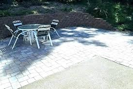 extend concrete patio with over cost cement pavers image extend concrete patio cost