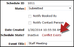 Schedule Conflict Resolving Schedule Conflicts