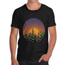 City Lights Clothing Store Funny Clothing Casual Short Sleeve T Shirts Men Cotton