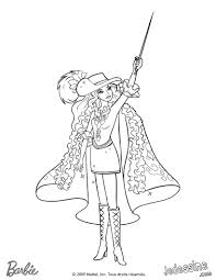 Barbie And Three Musketeers Barbie Coloring Page 201 Barbie
